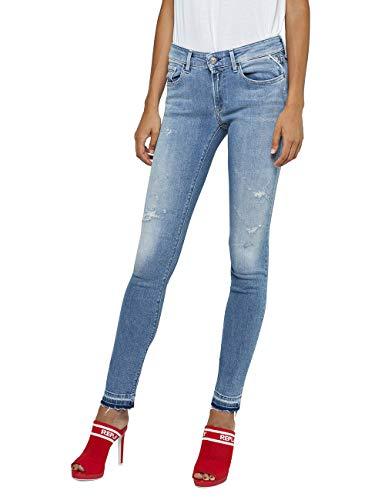 Replay Damen LUZ Skinny Jeans, Blau (Light Blue 10), W30/L30 (Herstellergröße: 30)