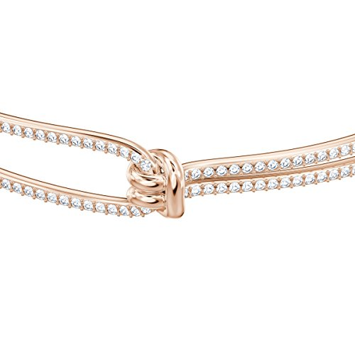 Swarovski Bracciale Rigido Lifelong, Bianco, Placcato Oro Rosa