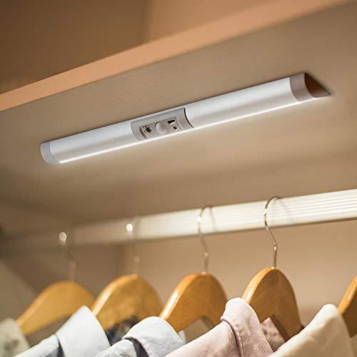 Led Schrankbeleuchtung mit Bewegungsmelder LichtSensor Kleiderschrank LED Beleuchtung, Sensorleuchte, für den Innen- und Außenbereich Schrankküche, keine Werkzeuge erforderlich 13 Zoll lang