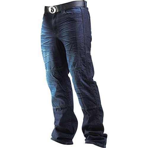 Drayko Drift Riding Jeans Men's Denim Street Bike Motorcycle Pants - Indigo