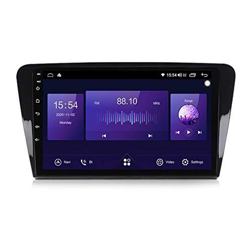 Yuahwyehe Android Car Stereo Radio De Coche 9 Pulgadas Unidad Principal Reproductor Multimedia Receptor De Video Carplay para Skoda Octavia 2013-2018 Android Autoradio,7862,4G+64G
