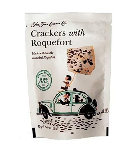Fine Cheese - Crackers con queso Roquefort 45 g - Caja de:...