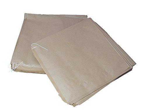 10.000 grote kraft bruin gestreepte papieren zakken middelgrote grootte 10 x 10