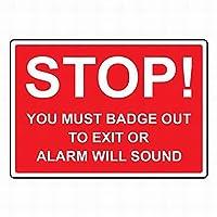 セーフティサイン屋外の壁の装飾の停留所の停留所の音を警告します