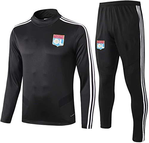 N/A Offizielle Fußball-Geschenk Mens Top + Pants Tracksuits Football Wear Verein Uniform Lyon Langarm-Trainingsanzug Lyon Wettbewerb Anzug (Size : S)