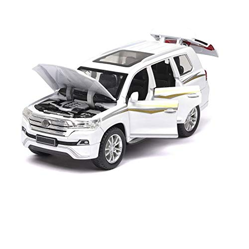 HCEB Diecast Model Car 1:32 For LAND CRUISER SUV Car Model Alloy Die Cast Classic Luxury Cars Favorites Gift Kids to-ys Cars Educational Gift Car Model (Color : White)