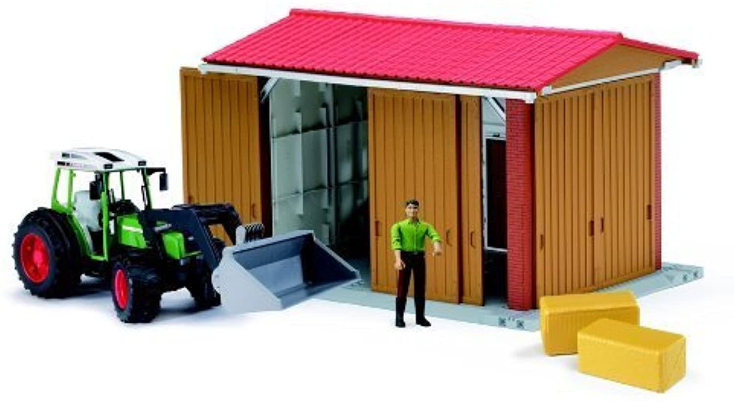 buena calidad Bruder Bworld Farm Farm Farm Shed with Man, Tractor and Accessories by Bruder  caliente