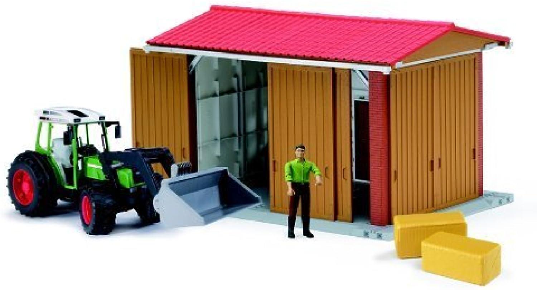 venta con descuento Bruder Bworld Farm Farm Farm Shed with Man, Tractor and Accessories by Bruder  suministro de productos de calidad