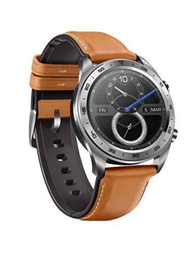 Honor Watch Magic SmartWatch, 1,2-Zoll-AMOLED-Touchscreen, Echtzeit-Herzfrequenzmesser, 3D-Entfernung, vertikale Geschwindigkeit, Höhe und Druckmessung(Silber)