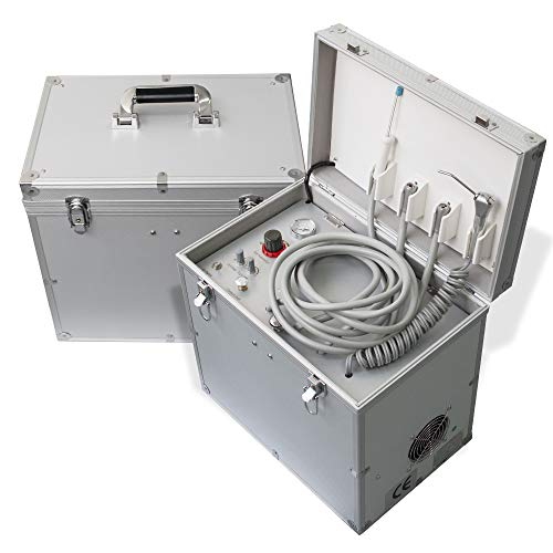 Portable Delivery Unit Turbine unit With Air Compressor, Suction System, Triplex/Three Way Syringe