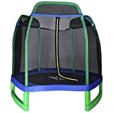 North Gear 7ft Kids Trampoline with Safety Enclosure Net