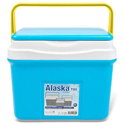 Kühlbox mit Klappdeckel ideale Thermobox für das Auto für Camping und Picknick Verschiedene Größen - 18 L - Blau