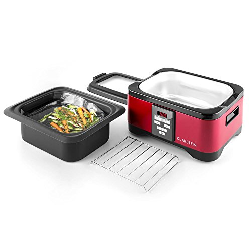 Klarstein Tastemaker Sous-vide Garer + FoodLocker Vakuumierer + Vakuumierfolien-Rolle Slim Set (6 Liter, 550 Watt Garer, 130 Watt Vakuumierer, -075 bar, 6 Meter Folienschlauch) silber - 7