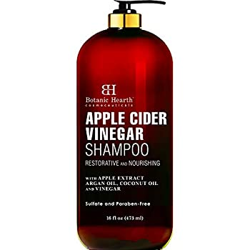 BOTANIC HEARTH Apple Cider Vinegar Shampoo - Clarifying and Nourishing Reduces Itchy Scalp Dandruff & Frizz - Sulfate Free for All Hair Types Men and Women - 16 fl oz