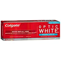 Colgate Optic White Advanced Whitening 3.5 Ounce Enamel Luminous Mint Toothpaste