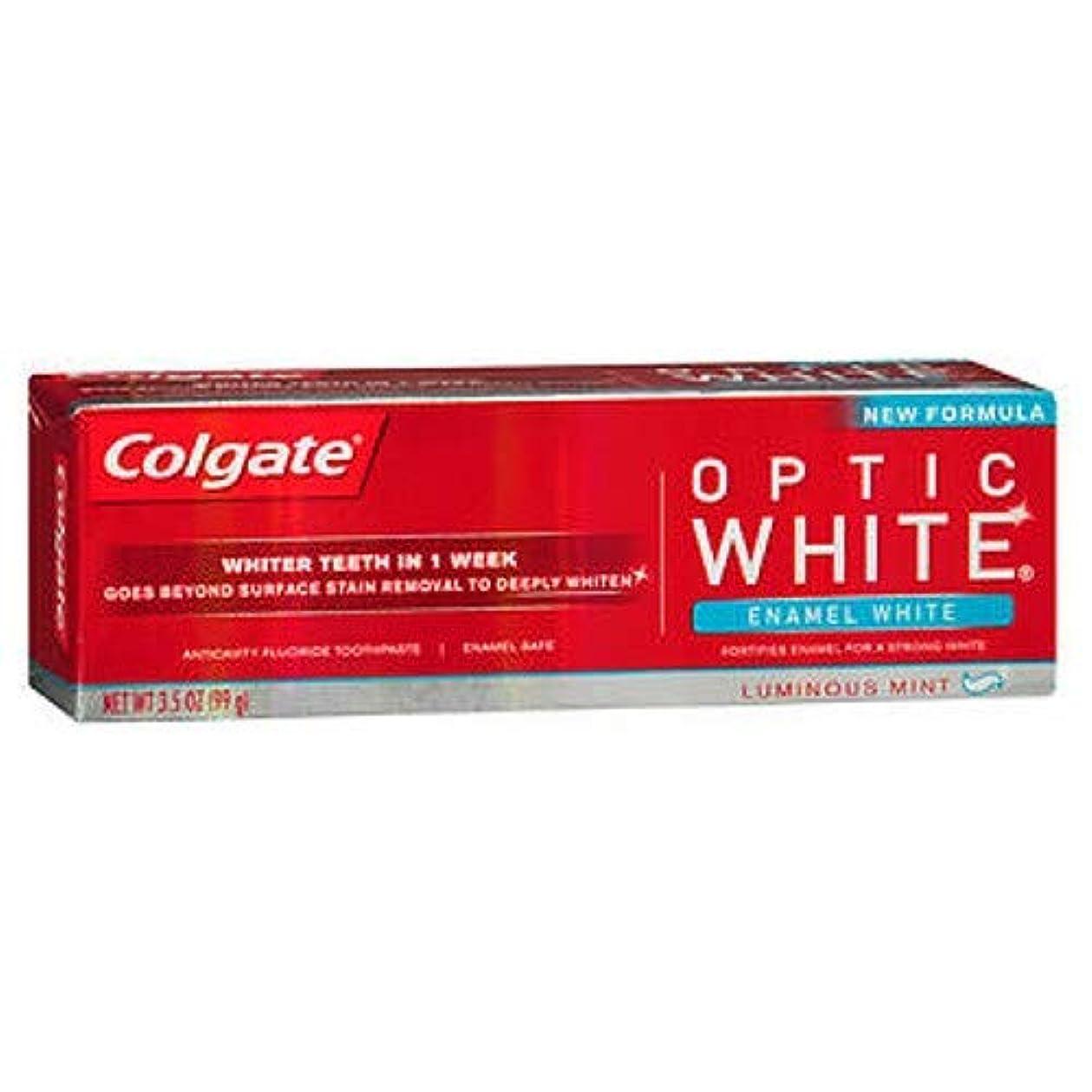 中間底壁紙Colgate オプティックホワイトハミガキ、エナメルホワイト、3.5オンス(6パック)