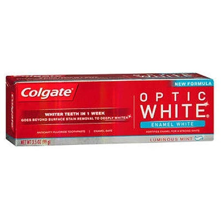 煩わしい雇ったに頼るColgate オプティックホワイトハミガキ、エナメルホワイト、3.5オンス(6パック)
