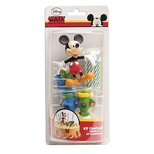 Dekora - Kit de Decoracion de Tartas con Velas de Cumpleaños + Figuras Decorativas de Mickey Mouse