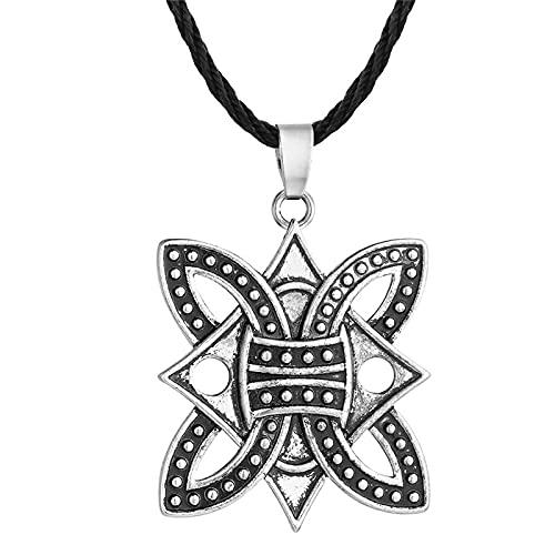 ShSnnwrl Collar Punk Hombres Antiguo eslavo Perun Hacha Amuleto Collar Colgante símbolo pagano nórdico Vikingo talismanes joyería Collier Q