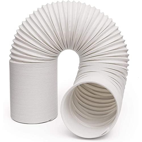 GYHH Tubo di Scarico per Condizionatore d'Aria Portatile PVC 5/5.9 Pollici con Filettatura Antioraria Tubo per Condizionatore d'Aria Portatile (Antiorario - Diametro 5')