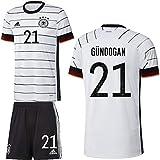 adidas UEFA Fußball DFB Deutschland Heimset EM 2020 Home Kit Trikot Shorts Kinder Gündogan 21 Gr 164