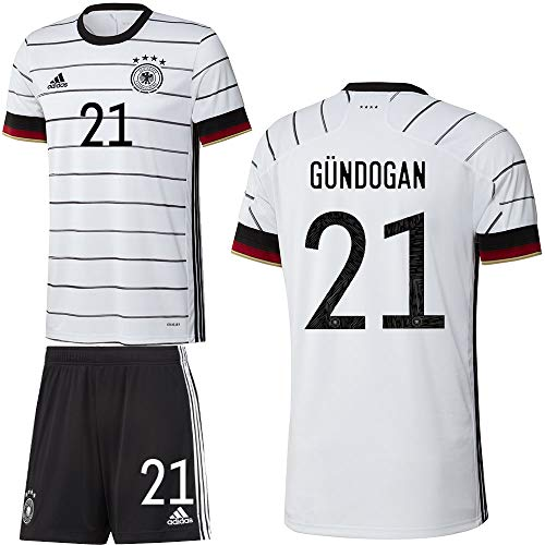 adidas UEFA Fußball DFB Deutschland Heimset EM 2020 Home Kit Trikot Shorts Herren Gündogan 21 Gr L