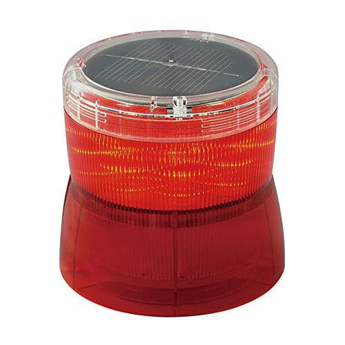 LED回転灯(ソーラー式) ニコソーラー VM10S型マグネット式 充電電池式 赤 日恵製作所 VM10S-BRM