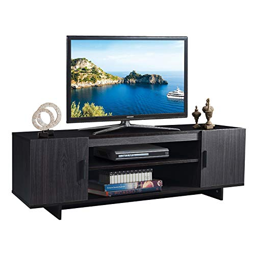 Tangkula Modern Wood Universal TV Stand for TV up to 65', Media...