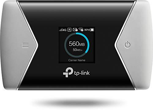 TP-Link M7650 Mobile Router Hotspot Portatile, 4G+ LTE Cat11 600Mbps, Dual Band Wi-Fi, SIM Card, SD Card fino a 32G, Display a Colori, Durata fino a 15 ore, Controllo del traffico