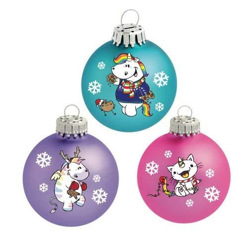 Pummeleinhorn - Weihnachtskugeln (X-Mas) - Pummel & Friends (3er Set)