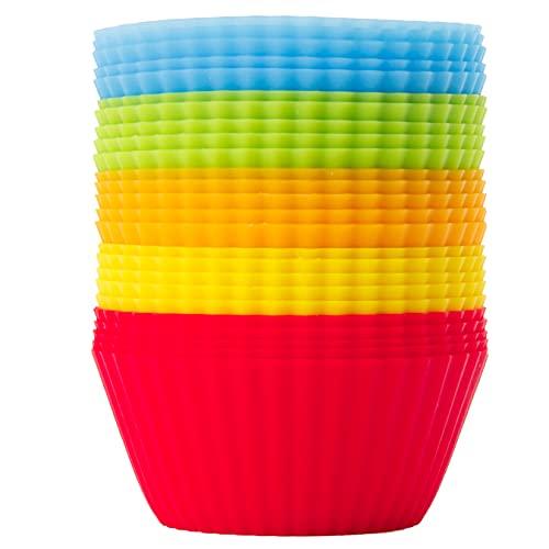 GOURMEO Lot de 25 caissettes cupcake - Petites caissette patisserie réutilisable - Caissette muffins réutilisable - Moule a cupcake en silicone - Caissette patisserie orientale sans BPA