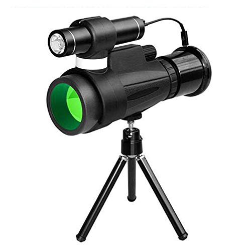 Wan&ya Telescopio Estelar monocular Telescopio de visión Nocturna infrarrojo Impermeable de Alta Potencia con Adaptador para teléfono Inteligente Trípode para observación de Aves Senderismo Camping