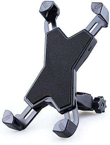 ABHI Bicycle Phone Holder,for 3.5-7inches Phone Bicycle Motorcycle, Adjustable 360° Rotation Anti-slip Gps Mount Bracket-Black