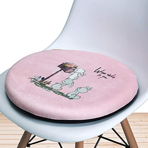 erddcbb Cojín Redondo de Espuma viscoelástica para Asiento, Cojines de Asiento para Interiores y Exteriores, Cojines de ratán Suave para taburetes Redondos, Cojines Transpirables para sillas para co