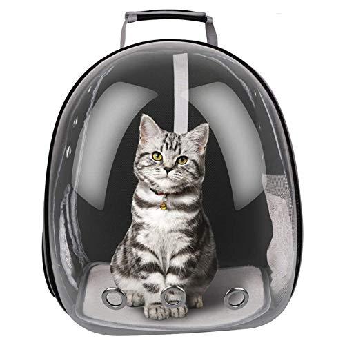 FancyWhoop Spazio Panoramico Trasparente Zaino per Animali Cane Gatto Traspirante Portatile Trasporto con Pesi Fino a 12KG