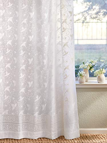 """Saffron Marigold Ivy Lace Curtain Panel 