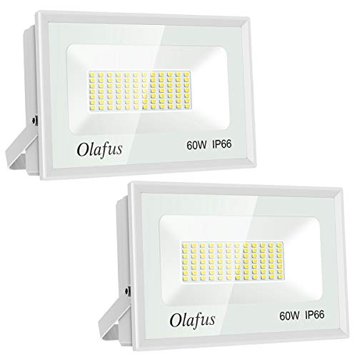 Olafus 2 Packs 60W Focos LED Exterior