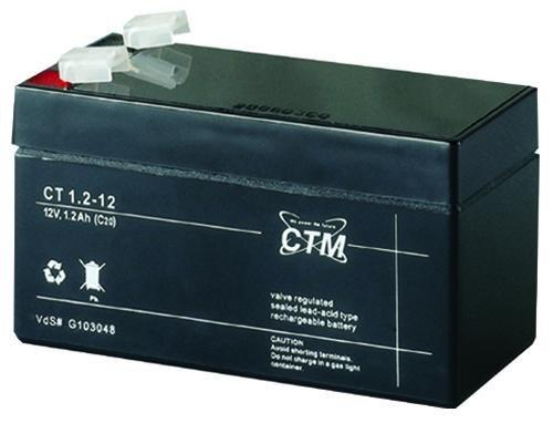 CT1,2-12 CTM Blei Gitter-Vließ-Batterie Bleiakku Wartungsfrei Wiederaufladbar 12V 1,2Ah