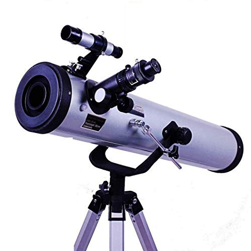 Cxjff Telescopio F76700M Telescopio Refractor Telescopios de Viaje portátiles Ajustables for astronomía, 350 Veces