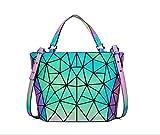 FZChenrry Bolsos de mano geométricos holográficos, reflectantes, carteras luminosas