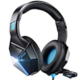 Gaming Headset with 3D Surround Sound, PC PS4 Headset with Crystal Clear Mic