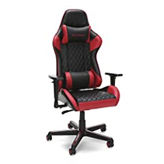 GAMIFIED SEATING: A racecar-style gaming chair that provides luxury and comfort, whether it's used for intense gaming sessions and climbing to the top of the leaderboards, or long work days. ERGONOMIC COMFORT: This ergonomic chair has a steel tube fr...