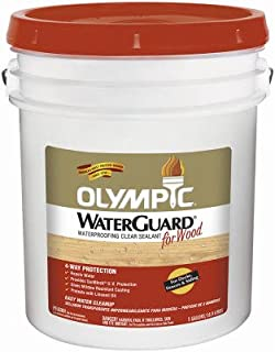 Olympic Waterguard Wood Waterproofing Sealant Voc Exterior Clear 5 Gl Voc