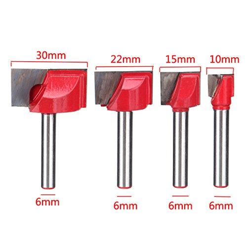 EsportsMJJ 10/15/22/30mm Oppervlak Schaafwerk Bodem Reiniging Hout frezen Router Bit Voor CNC, 15mm, 1