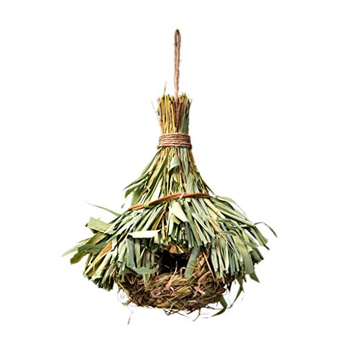 luosh Intrecciato Appeso Uccelli Nido Erba Naturale Gabbia per Uova Decorativo per Esterno
