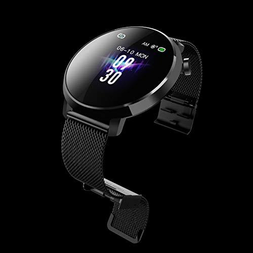 New Couple Smart Sports Watch Waterproof Sports Step Heart Rate Blood Pressure Sleep Monitoring Smart Reminder Watch,Black