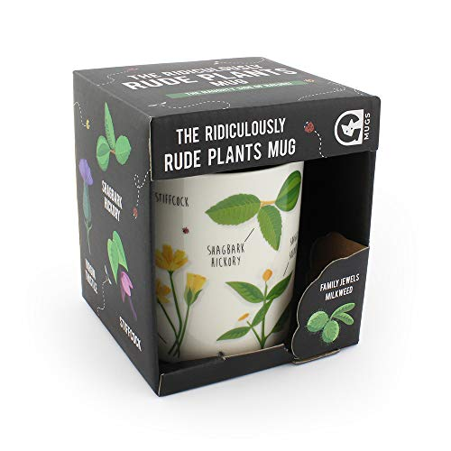 Ginger Fox Rude Plants Novelty Joke Mug Packed With Innocent Plants With Rude Names - Perfect For Gardeners