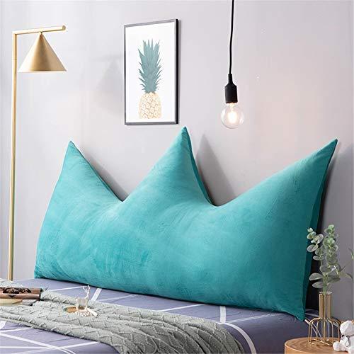 ZZKD Color sólido Terciopelo de Cristal Respaldo Grande Almohada Corona cabecero Cojines Tapizado Leer Cama Respaldo Almohada para Decoracion Cuna DormitorioG-180x80(71x31inch)