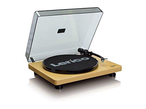 Lenco L-30WD USB Plattenspieler - Schallplattenspieler mit Riemenantrieb - 33 und 45 U/min - USB - RCA Line-Out - digitalisieren von Schallplatten - Vorverstärker - Holz