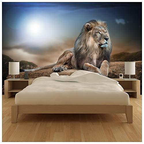 azutura Majestätischer Löwe Fototapete Safari Tier Tapete Kinder Schlafzimmer Haus Dekor Erhältlich in 8 Größen X-Groß Digital